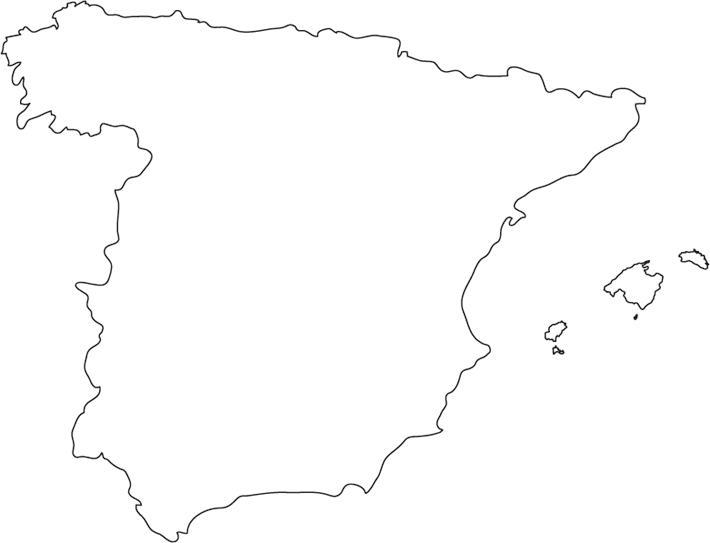 Espanja Kartta Aariviivat Outline Kartta Espanjan Kaupungeissa