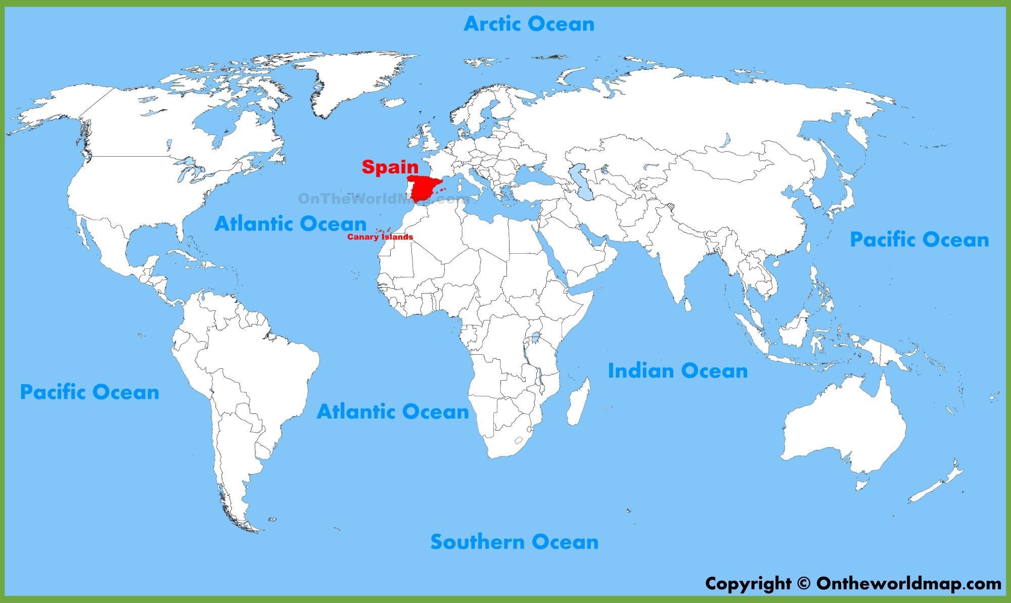 Espanja On Maailman Kartta Maailman Kartta Osoittaa Espanja