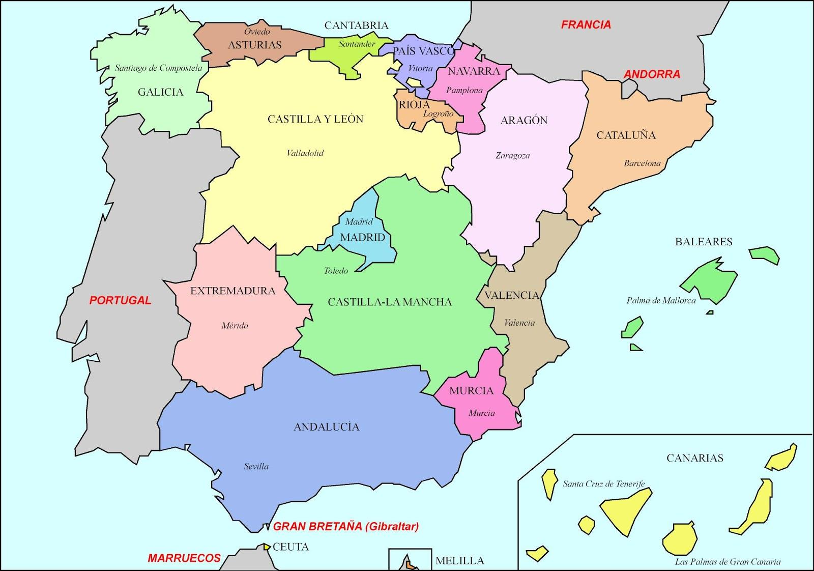 Keskiaikainen Espanjan Kartta Kartta Espanjan Keskiaikainen
