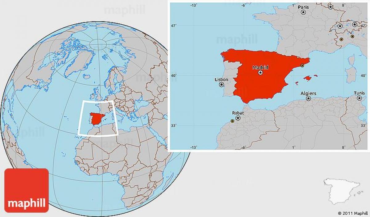 Espanja Sijainti Maailmankartalla Espanja World Sijainti