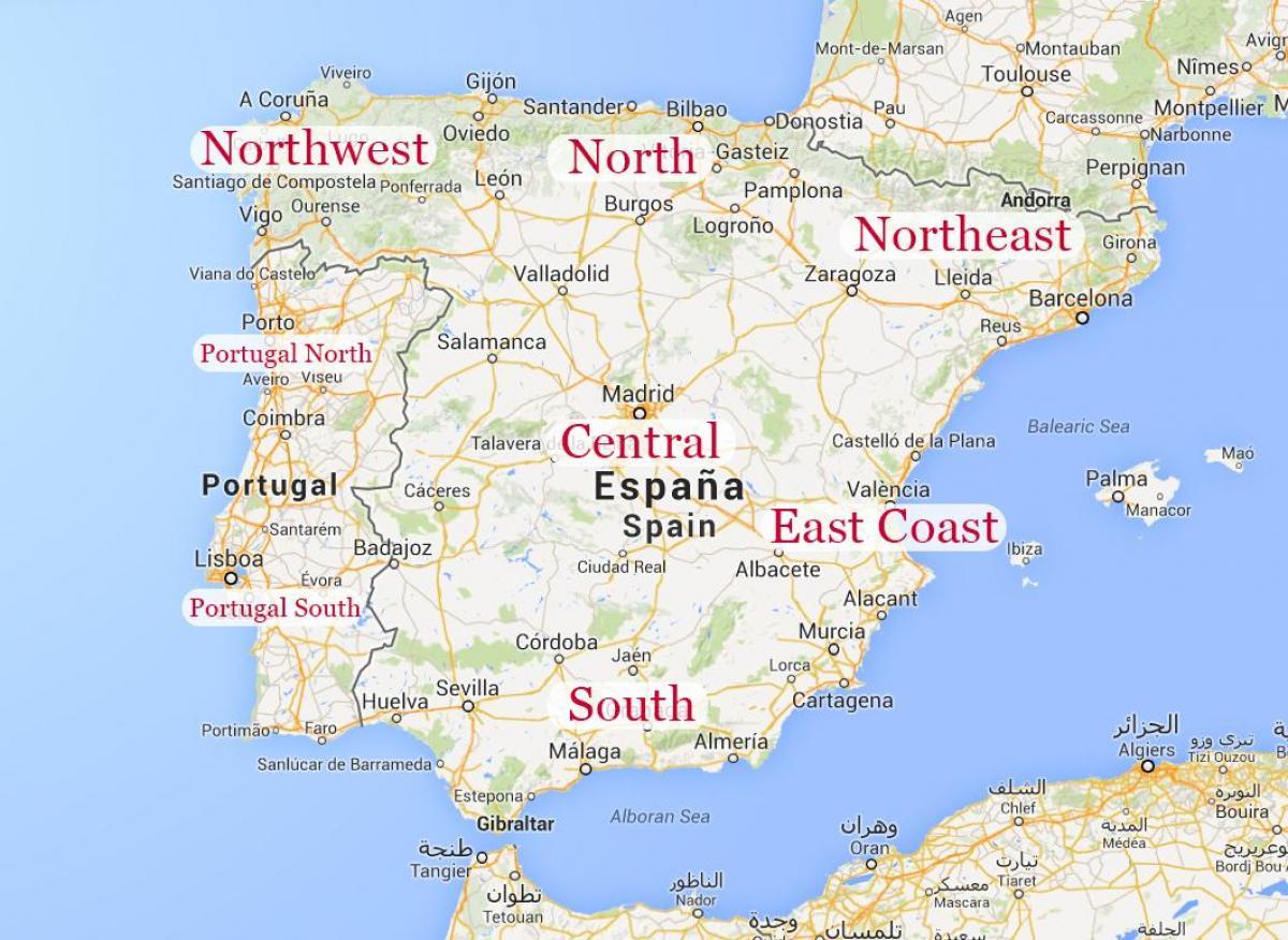 Kartta Ita Espanjan Kartta Ita Espanjan Rannikko Etela