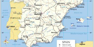 Espanjan Kartta Kartat Espanja Etela Euroopassa Eurooppa